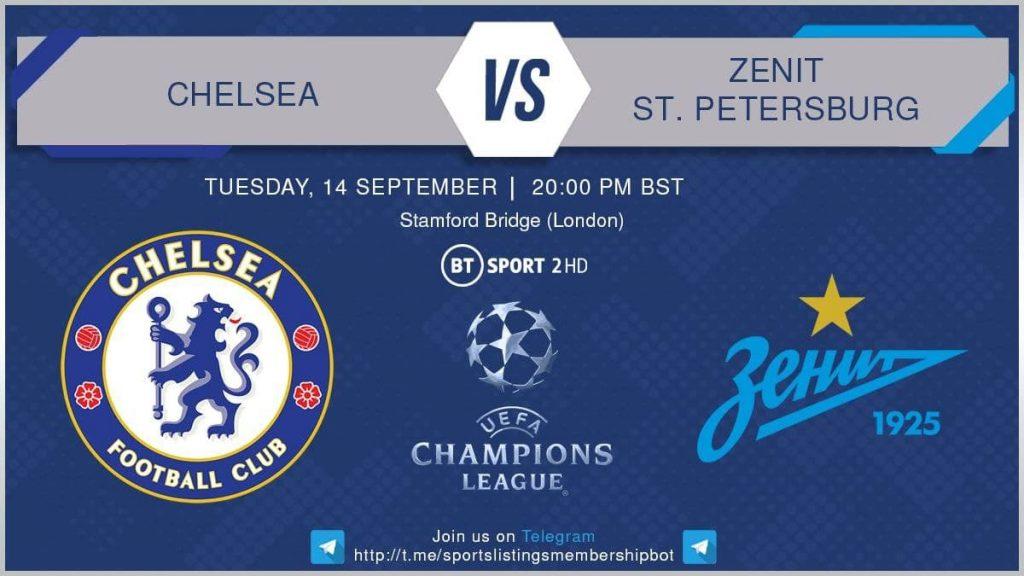 Champions League 14/9/2021 - Chelsea v Zenit St. Petersburg