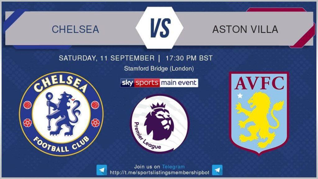 Premier League 11/9/2021 -Chelsea v Aston Villa