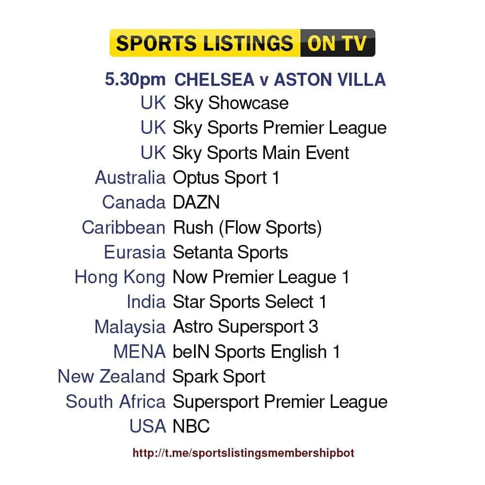 Premier League 11/9/2021 - Chelsea v Aston Villa