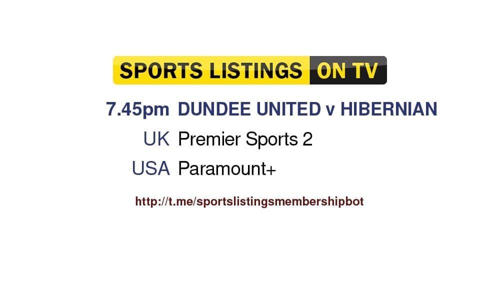 Football 23/9/2021 - Dundee United v Hibernian