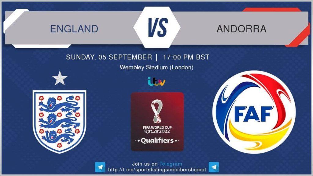 Football 5/9/2021 -England v Andorra