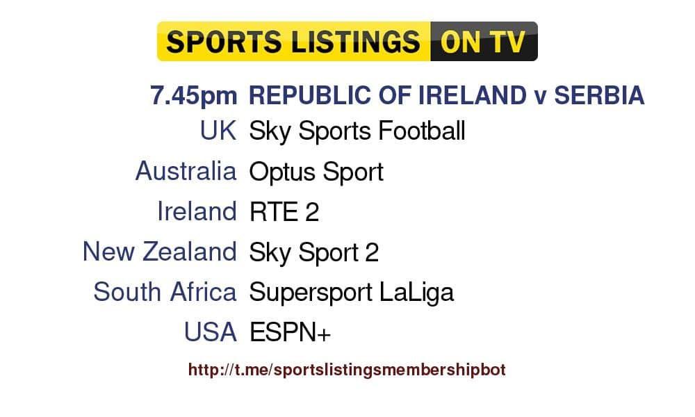 Football 7/9/2021 - Ireland v Serbia Detailed