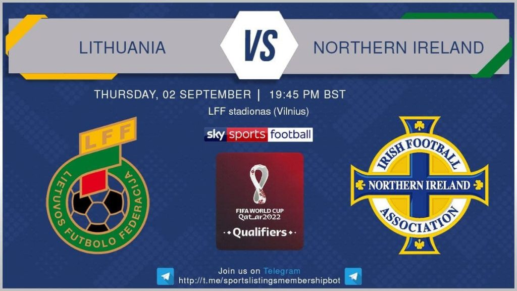 World Cup Qualifiers 2/9/2021 -Lithuania v Northern Ireland