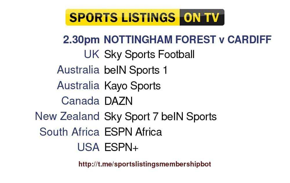 Premier League 12/9/2021 -Nottingham Forest v Cardiff