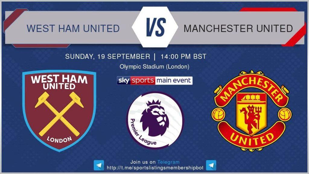 Premier League 19/9/2021 - West Ham v Manchester United
