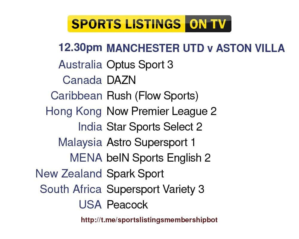 Premier League 25/9/2021 - Manchester United v Aston Villa