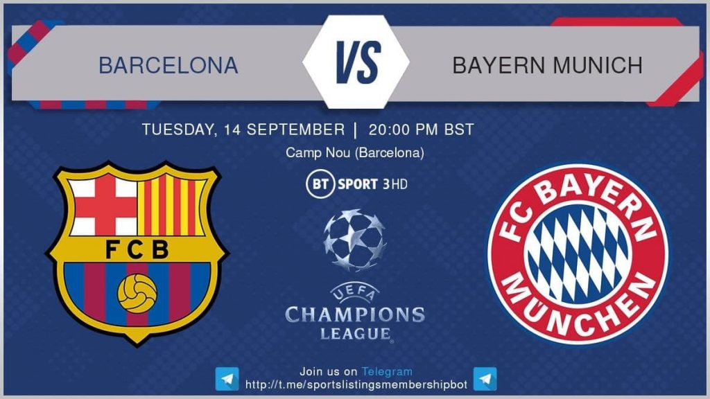Champions League 14/9/2021 Barcelona v Bayern Munich