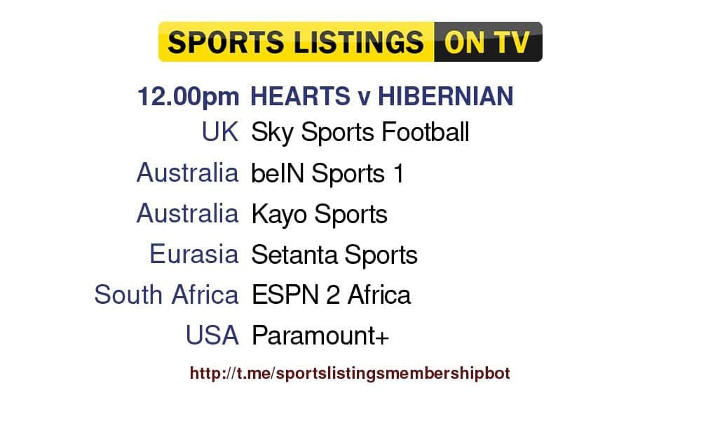 Premier League 12/9/2021 - Hearts v Hibernian