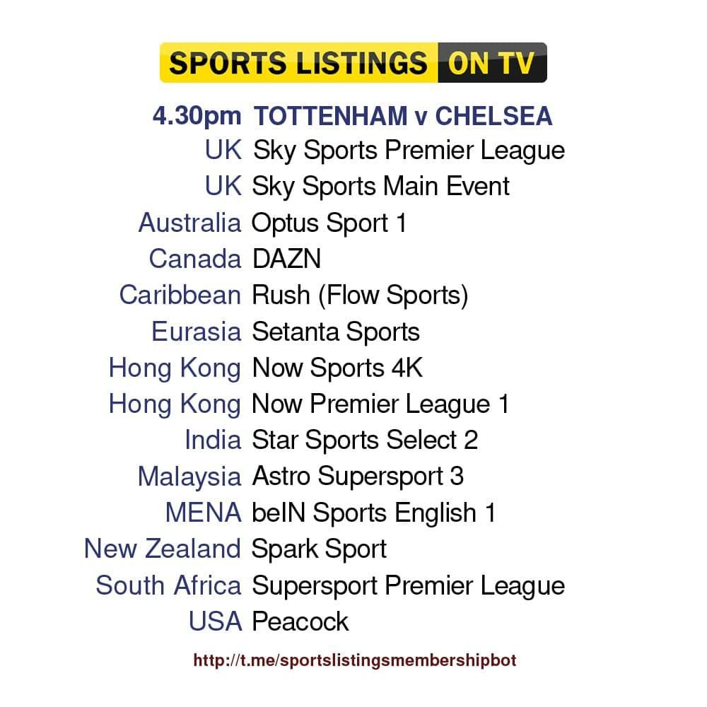 Premier League 19/9/2021 - Tottenham v Chelsea