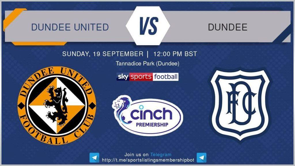 Premier League 19/9/2021 - Dundee United v Dundee