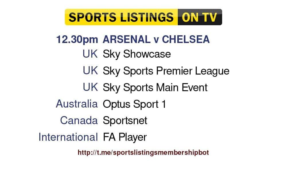 Football 5/9/2021 - Arsenal v Chelsea