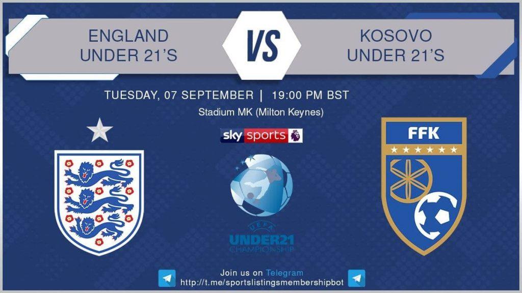 Football 7/9/2021 - U21 Championship - England v Kosovo