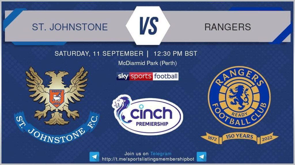 Premier League 11/9/2021 - St Johnstone v Rangers