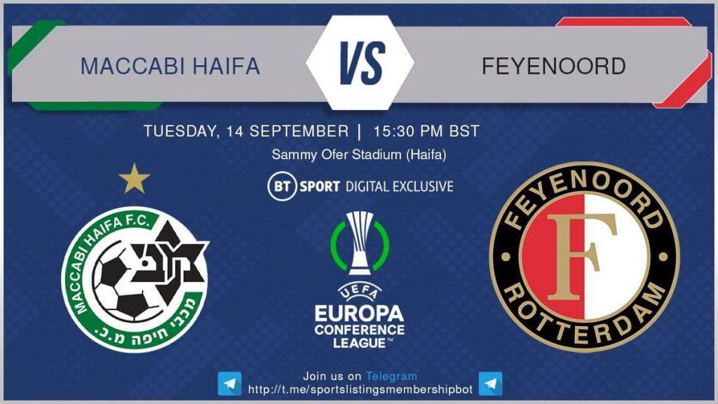 Champions League 14/9/2021 - Maccabi Haifa v Feyenoord