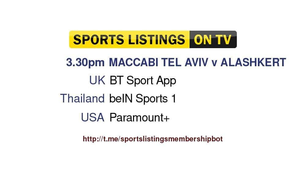 Champions League 14/9/2021 - Maccabi Tel Aviv v Alashkert