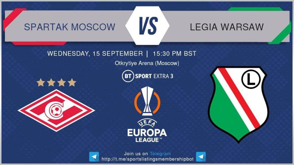 Champions League 15/9/2021 -Spartak Moscow v Legia Warsaw