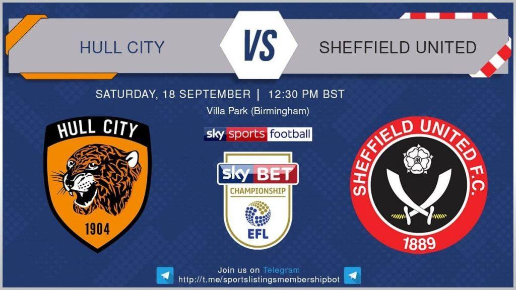 Premier League 18/9/2021  Hull v Sheffield United