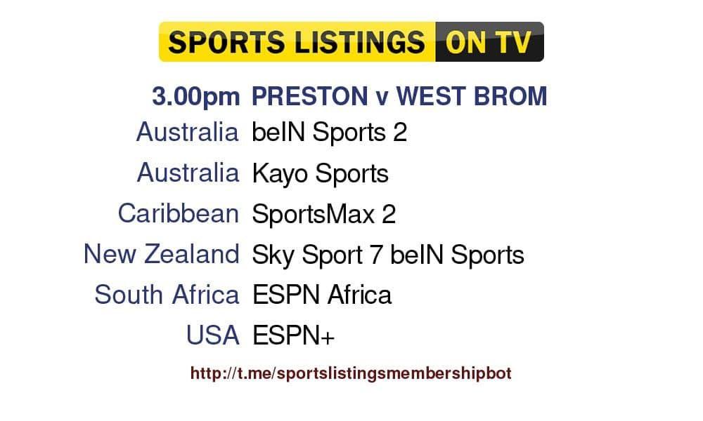 Premier League 18/9/2021  Preston v West Brom