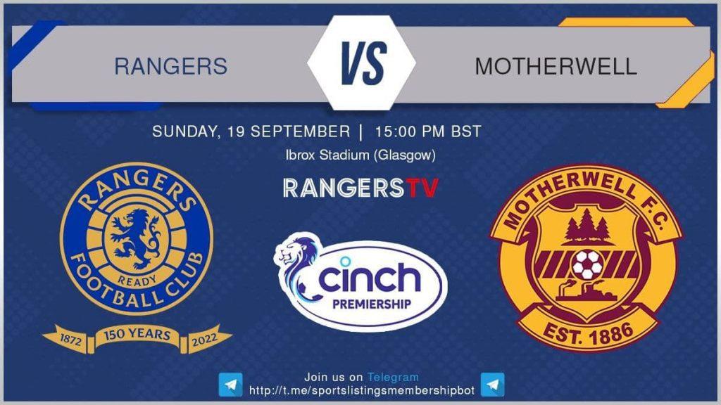 Premier League 19/9/2021 - Rangers v Motherwell