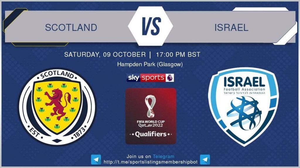 World Cup Qualifiers 9/10/21 - Scotland v Israel
