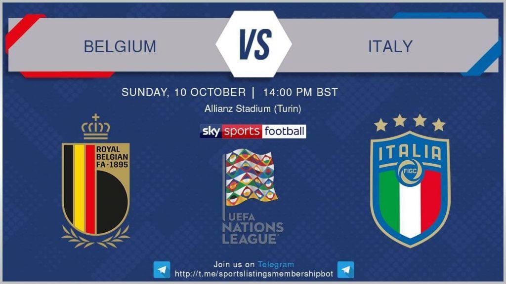 UEFA Nations League 10/10/21 = Belgium v Italy