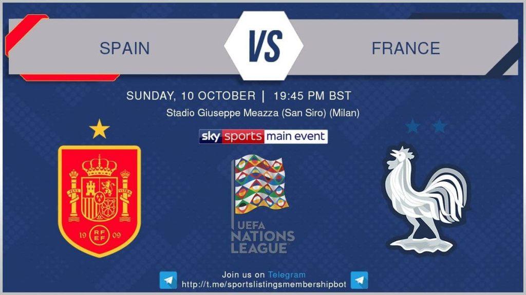 UEFA Nations League 10/10/21  Spain v France