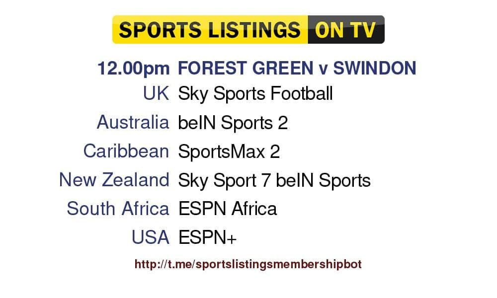 World Cup Qualifiers 9/10/21 -Forest Green v Swindon