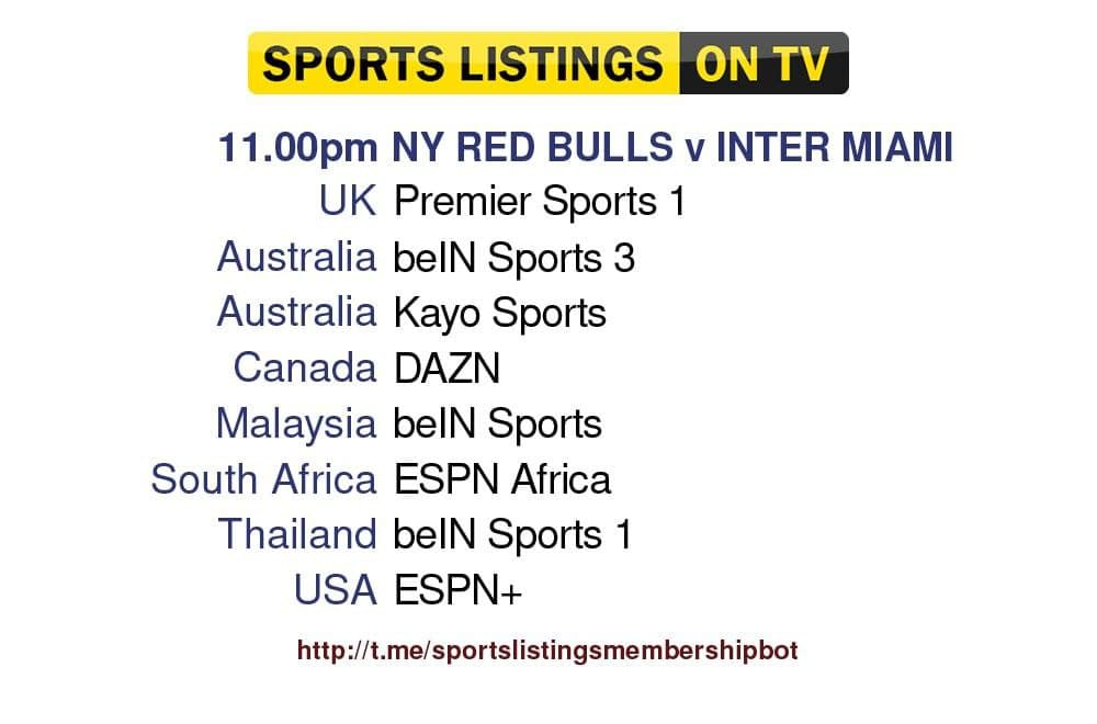 World Cup Qualifiers 9/10/21 -New York Red Bulls v Inter Miami